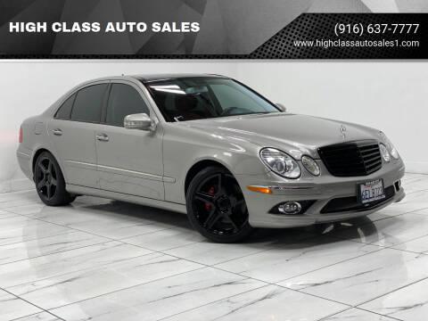 2009 Mercedes-Benz E-Class for sale at HIGH CLASS AUTO SALES in Rancho Cordova CA