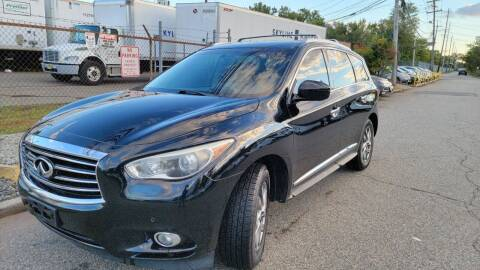 2013 Infiniti JX35 for sale at Giordano Auto Sales in Hasbrouck Heights NJ