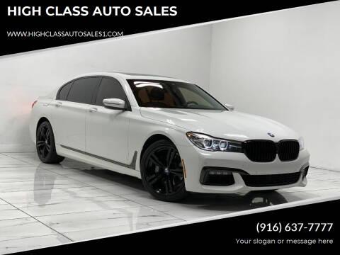 2016 BMW 7 Series for sale at HIGH CLASS AUTO SALES in Rancho Cordova CA
