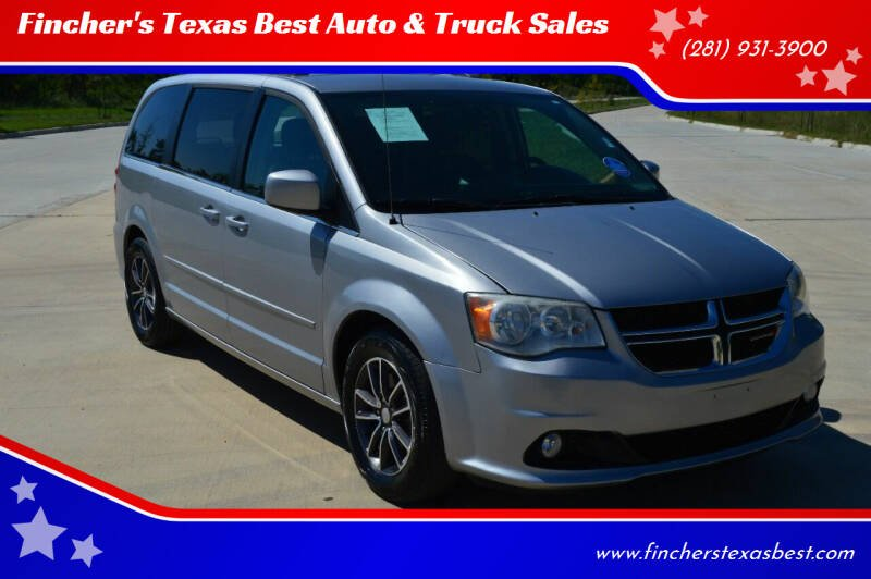 2017 Dodge Grand Caravan for sale at Fincher's Texas Best Auto & Truck Sales in Tomball TX
