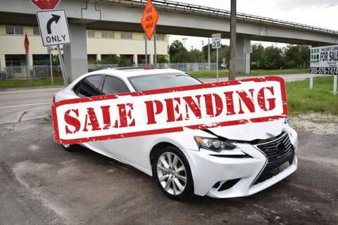 2016 Lexus IS 200t for sale at ELITE MOTOR CARS OF MIAMI in Miami FL