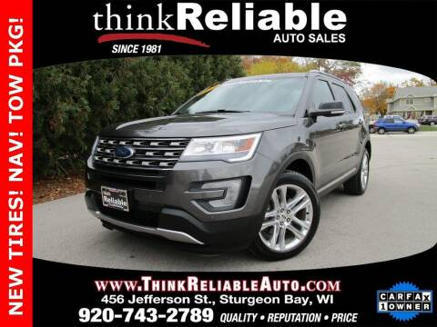 2017 Ford Explorer for sale at RELIABLE AUTOMOBILE SALES, INC in Sturgeon Bay WI