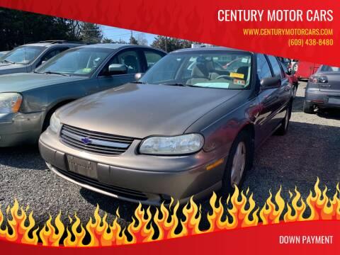 2000 Chevrolet Malibu for sale at Century Motor Cars in West Creek NJ