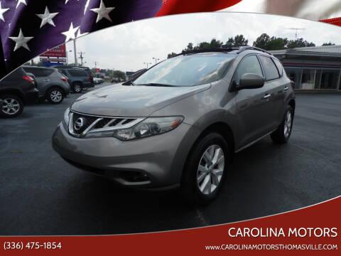 2012 Nissan Murano for sale at CAROLINA MOTORS in Thomasville NC