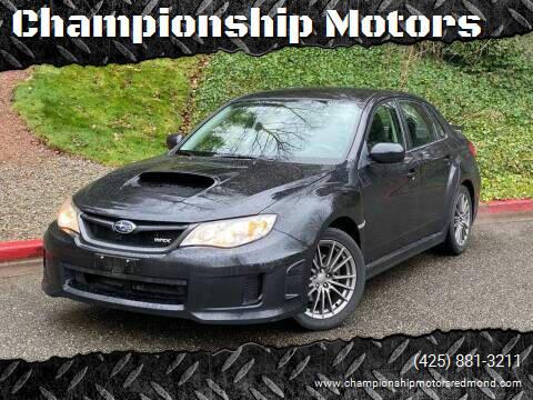 2013 Subaru Impreza for sale at Championship Motors in Redmond WA