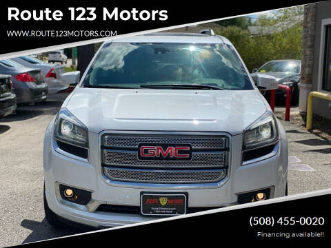2016 GMC Acadia for sale at Route 123 Motors in Norton MA