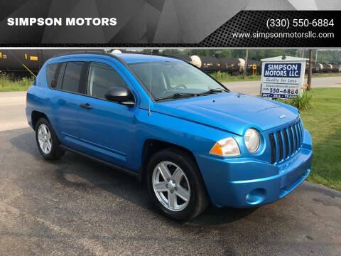 2008 Jeep Compass for sale at SIMPSON MOTORS in Youngstown OH