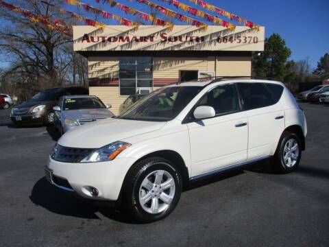 2006 Nissan Murano for sale at Automart South in Alabaster AL