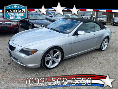 2005 BMW 6 Series for sale at J & E AUTOMALL in Pelham NH