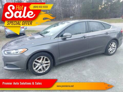 2013 Ford Fusion for sale at Premier Auto Solutions & Sales in Quinton VA