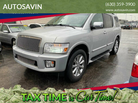 2008 Infiniti QX56 for sale at AUTOSAVIN in Elmhurst IL