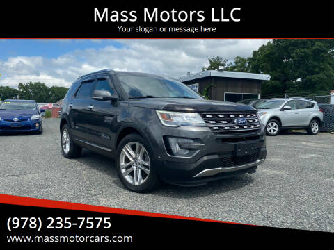 2017 Ford Explorer for sale at Mass Motors LLC in Worcester MA