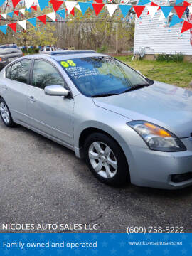 2008 Nissan Altima for sale at NICOLES AUTO SALES LLC in Cream Ridge NJ
