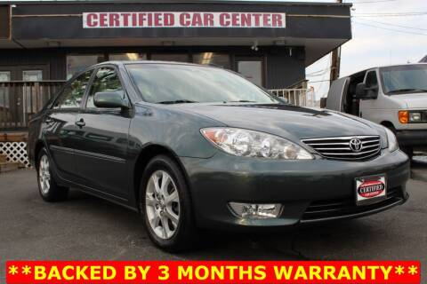 2005 Toyota Camry for sale at CERTIFIED CAR CENTER in Fairfax VA