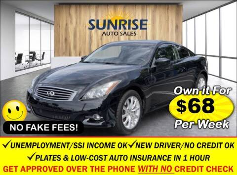 2013 Infiniti G37 Coupe for sale at AUTOFYND in Elmont NY
