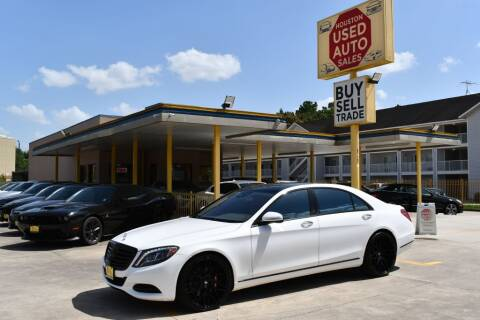2016 Mercedes-Benz S-Class for sale at Houston Used Auto Sales in Houston TX