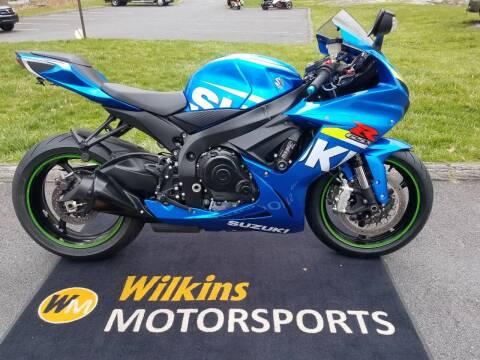 2015 Suzuki GSX-R600 for sale at WILKINS MOTORSPORTS in Brewster NY