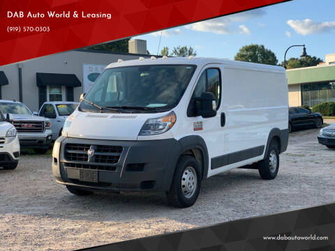 2018 RAM ProMaster Cargo for sale at DAB Auto World & Leasing in Wake Forest NC