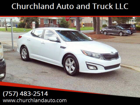 2015 Kia Optima for sale at Churchland Auto and Truck LLC in Portsmouth VA