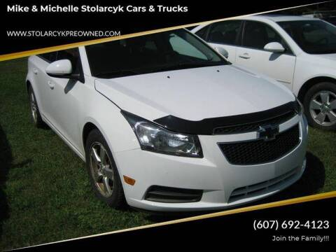2013 Chevrolet Cruze for sale at Mike and Michelle Stolarcyk Cars and Trucks in Whitney Point NY