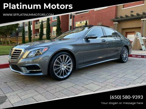 2016 Mercedes-Benz S-Class for sale at Platinum Motors in San Bruno CA