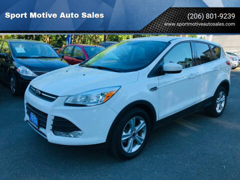 2015 Ford Escape for sale at Sport Motive Auto Sales in Seattle WA