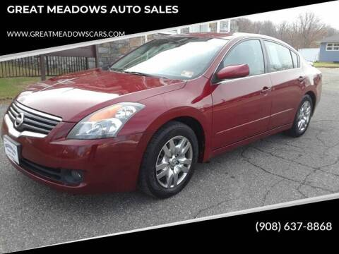 2007 Nissan Altima for sale at GREAT MEADOWS AUTO SALES in Great Meadows NJ