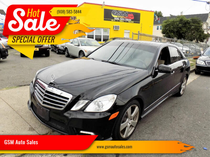2011 Mercedes-Benz E-Class for sale at GSM Auto Sales in Linden NJ