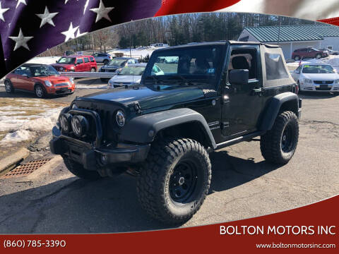 2011 Jeep Wrangler for sale at BOLTON MOTORS INC in Bolton CT