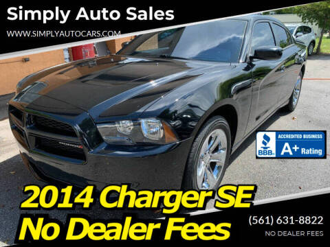 2014 Dodge Charger for sale at Simply Auto Sales in Palm Beach Gardens FL