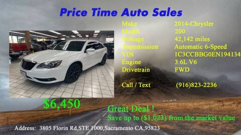 2014 Chrysler 200 for sale at PRICE TIME AUTO SALES in Sacramento CA