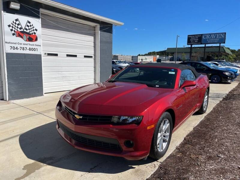 2014 Chevrolet Camaro for sale at NATIONAL CAR AND TRUCK SALES LLC - National Car and Truck Sales in Concord NC
