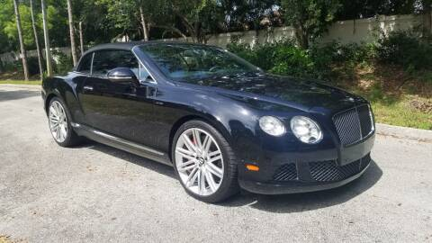 2014 Bentley Continental for sale at DELRAY AUTO MALL in Delray Beach FL