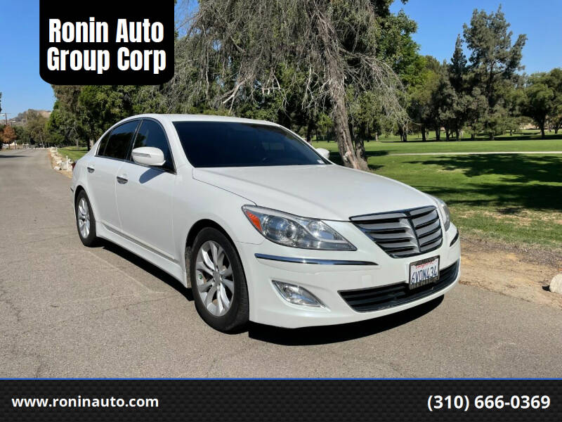 2012 Hyundai Genesis for sale at Ronin Auto Group Corp in Sun Valley CA