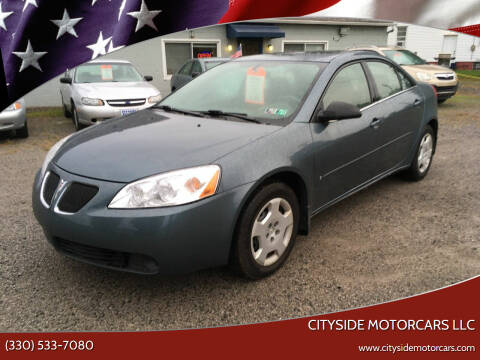 2006 Pontiac G6 for sale at CITYSIDE MOTORCARS LLC in Canfield OH