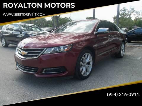 2017 Chevrolet Impala for sale at ROYALTON MOTORS in Plantation FL