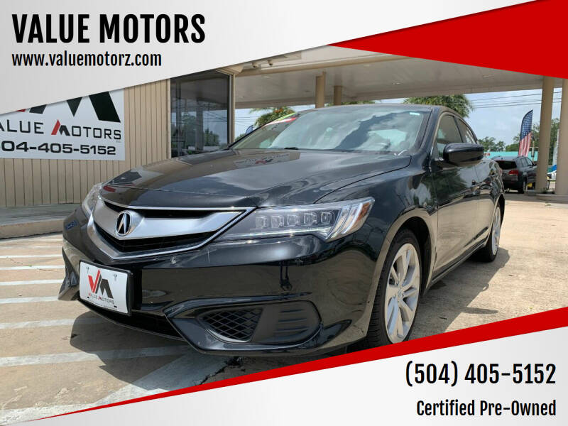 2017 Acura ILX for sale at VALUE MOTORS in Kenner LA