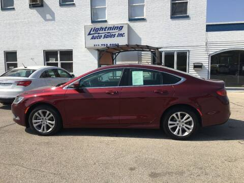 2015 Chrysler 200 for sale at Lightning Auto Sales in Springfield IL