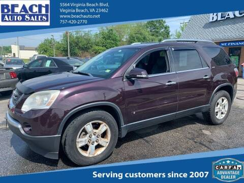 2009 GMC Acadia for sale at Beach Auto Sales in Virginia Beach VA