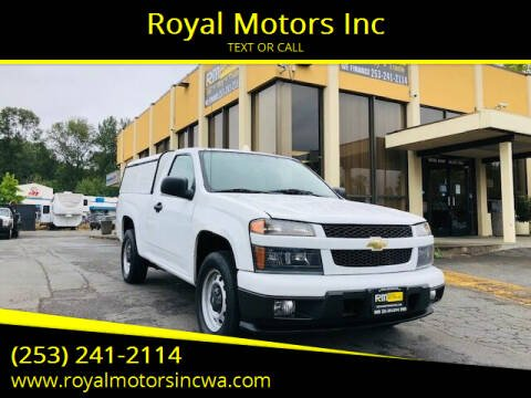 2012 Chevrolet Colorado for sale at Royal Motors Inc in Kent WA
