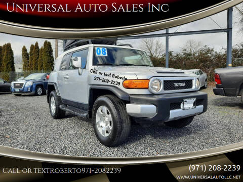 2008 Toyota FJ Cruiser for sale at Universal Auto Sales Inc in Salem OR