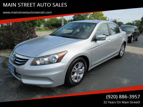 2012 Honda Accord for sale at MAIN STREET AUTO SALES in Neenah WI