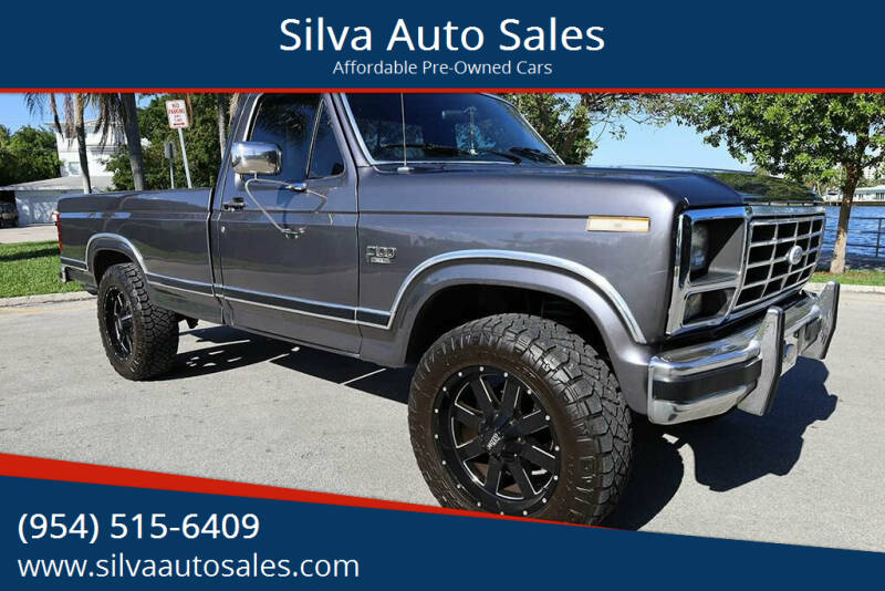 1983 Ford F-100 for sale at Silva Auto Sales in Pompano Beach FL