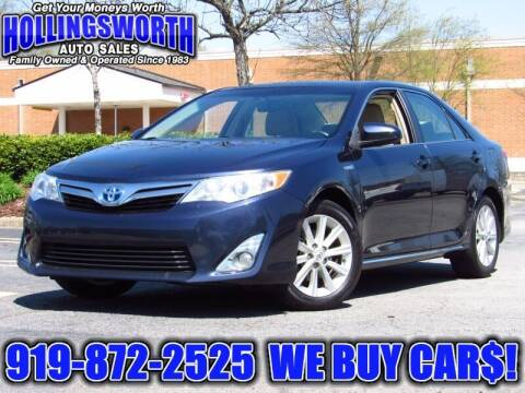 2014 Toyota Camry Hybrid for sale at Hollingsworth Auto Sales in Raleigh NC