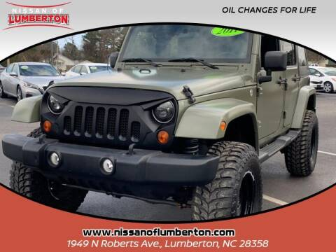 2011 Jeep Wrangler Unlimited for sale at Nissan of Lumberton in Lumberton NC