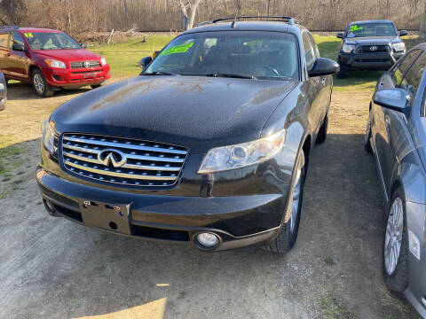 2005 Infiniti FX35 for sale at Richard C Peck Auto Sales in Wellsville NY