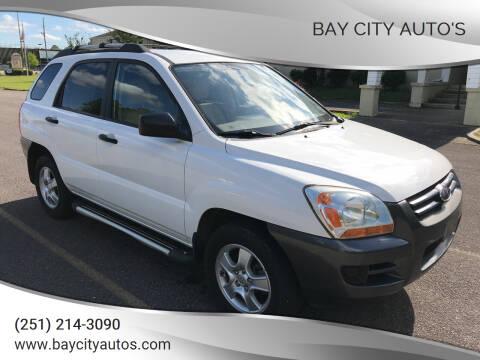 2008 Kia Sportage for sale at Bay City Auto's in Mobile AL