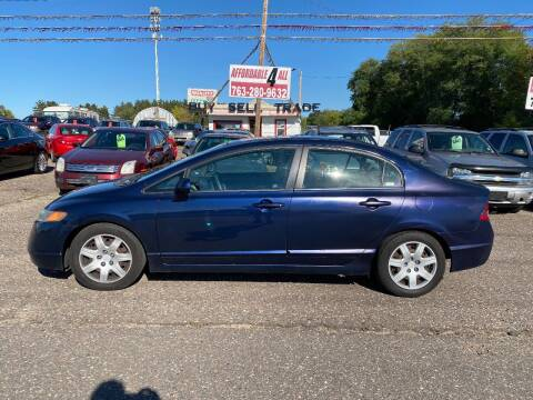 2007 Honda Civic for sale at Affordable 4 All Auto Sales in Elk River MN