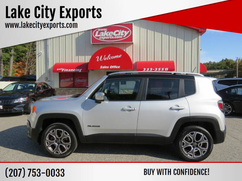 2015 Jeep Renegade for sale at Lake City Exports in Auburn ME