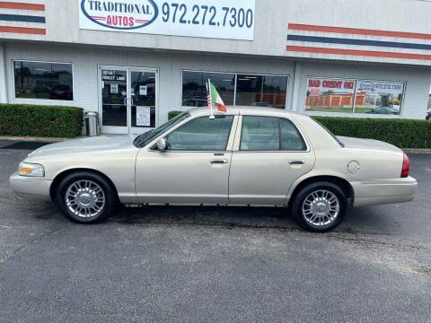 2009 Mercury Grand Marquis for sale at Traditional Autos in Dallas TX
